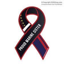 Ribbon Car Magnet Dress Blue Proud Sister Marine Sister Marine Corps Quotes Marine Sister Quotes