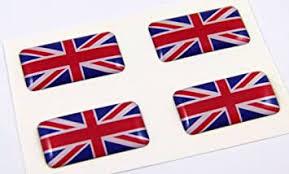 Amazon Com Great Britain Mini Domed Decals Set 4 Emblems British Car Bike Boat Stickers Automotive