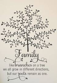 family like branches quote wall art tree quotes wall quotes