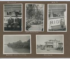 1920'S ALBUM PAGE 8 PHOTOS 4 SHOWING PADDLESTEAMER MARION MURRAY BRIDGE SA  A89 | Philicia Antiques and Collectables