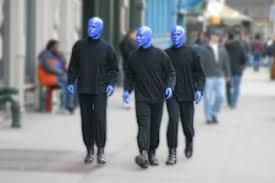 blue man group costume makeup