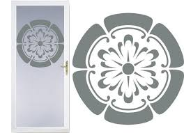 Crest Modern Design Diy Etched Glass Vinyl Privacy Film Glass Door Dec