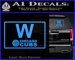 Chicago Cubs W Flag Decal Sticker A1 Decals