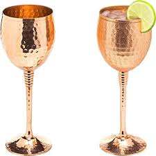 com copper wine glasses set of