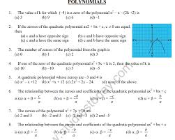 cbse class 10 mathematics polynomials