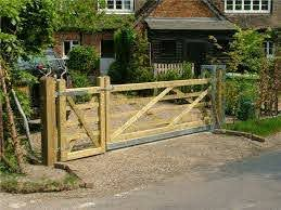 Gate For Person And For Car Wooden Garden Gate Farm Gate Garden Gate Design