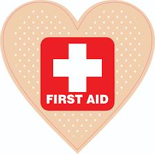 Stickertalk Heart Bandage First Aid Vinyl Sticker 4 5 Inches X 4 5 Inches Stickertalk