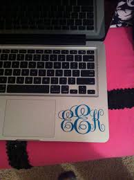 Pin By Cathy Johnson On Cricut Projects Monogram Vinyl Decal Computer Vinyl Decal Vinyl Monogram