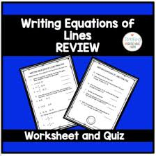 lines review worksheet and quiz