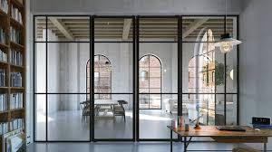 industrial style glass partition why