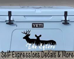 Buck Doe Personalized Cooler Decal Self Expressions Decals More