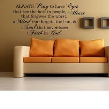 Always Pray Eyes Heart Mind Soul Faith In God Bible Introduction Sticker Vinyl Wall Decal Art Lettering Graphic Wall Sticker 207 Wall Stickers Aliexpress