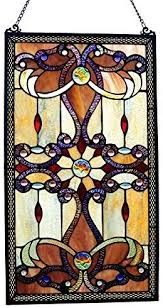 brandi collection stained glass panel