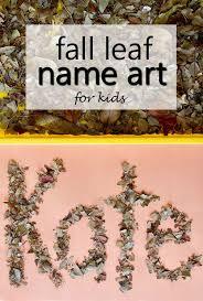fall leaf name art for kids fantastic