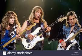 v.l. Steve Harris, Dave Murray, Adrian Smith (Iron Maiden) on ...