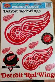 Nhl Detroit Redwings Window Clings 17 X12 Sheet New Ebay