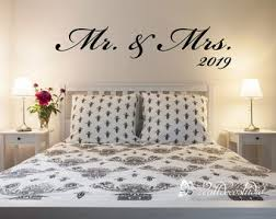 Mr Mrs Wall Decal Etsy