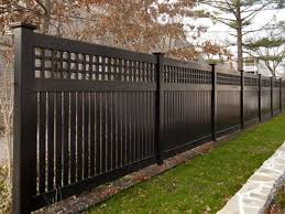 Image Result For Black Privacy Fence Brick House Backyard Fences Fence Design Privacy Fence Designs