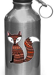 Amazon Com Patterned Fox Vinyl Decal Sticker For Reusable Water Bottles Yadda Yadda Design Co 3 W X 3 H Fox Small Home Improvement