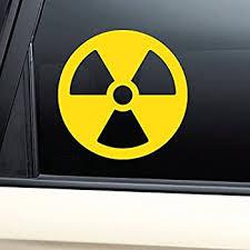 Amazon Com Radioactive Nuclear Fallout Radiation Warning Vinyl Decal Laptop Car Truck Bumper Window Sticker Yellow Automotive