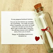gifts for first wedding anniversary