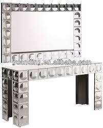 venetian mirrored tall narrow table