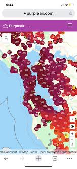 """Aaron Pero on Twitter: """"Air quality around the #BayArea right now is  unhealthy for everyone. 🤢🤢🤢… """""""