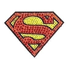 Dc Comics Ch Sm Logo001sm Superman Small Car Window Decal Sticker Bling Logo Crystal Studded Superman Walmart Com Walmart Com