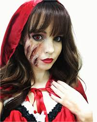 makeup for scary little red riding hood