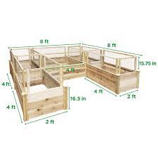 Greenes Fence Premium Cedar Raised Garden Bed U Shaped Bed Mk Library