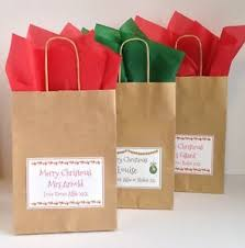 personalised xmas gift bags