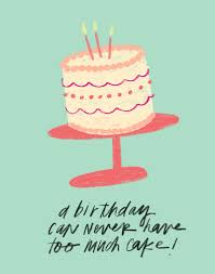 birthday cake digital quote print darling quote