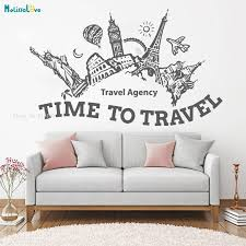 Travel Agency Hall Summer Holidays Adventure Voyage Wall Decals Sticker Home Decoration Living Room Time To Travel Kids Yt1239 Buy At The Price Of 5 98 In Aliexpress Com Imall Com