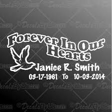 Low Prices On Forever In Our Hearts Dove Car Decals