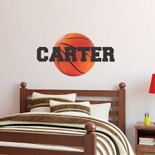 Personalized Name Basketball Wall Decal Custom Name Etsy