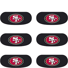 San Francisco 49ers Eye Black Stickers 6ct Party City