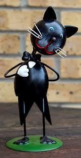 tuxedo cat cute metal ornament figurine