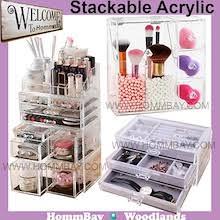 qoo10 acrylic makeup organizer search