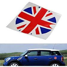 Amazon Com Ijdmtoy Red Blue Union Jack Uk Flag Pattern Vinyl Sticker Decal Compatible With Mini Cooper Gas Cap Cover Automotive
