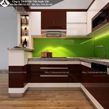 Mẫu tủ bếp có quầy bar chị Lệ - Đông Anh, Hà Nội | Tủ bếp, Bếp, Bếp đẹp