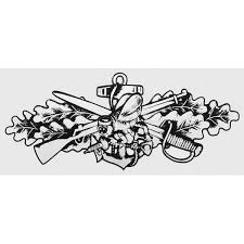 Seabee Combat Warfare Silver Decal Navy Decals Stickers Silver Decals Leather Tooling Patterns Military Tattoos