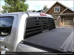 Toyota Tacoma American Flag Rear Window Decal 2016 Importequipment