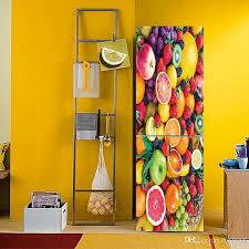 A Variety Of Fruit Vegetable Pattern Fridge Sticker Pvc Kitchen Self Adhesive Waterproof Removable Art Vinyl Decal Refrigerator Door Decor Stickers Wall Decals Stickers Wall Decor From Fst1688 29 Dhgate Com