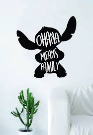 Ohana Means Family Stitch Silhouette Decal Sticker Wall Vinyl Decor Ar Boop Decals
