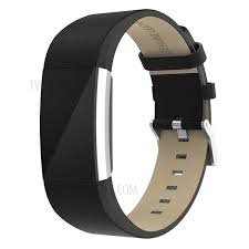 pu leather smart watch band for fitbit