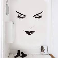 Beautiful Face Wall Sticker Girl Room Living Room Decoration Mural Art Decals Bedroom Beautiful Facial Features Stickers Wall Stickers Aliexpress