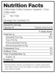 coffee mate hazelnut powdered coffee