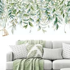 Green Foliage Leaves Botanical Wall Sticker Nursery Decor Decal Art Mural Gift For Sale Online