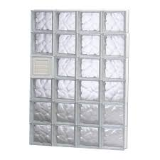 wave pattern dryer vented glass block