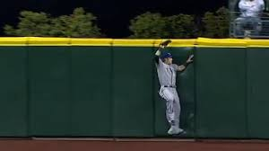 Josh Hamilton Breaks Safeco Field Outfield Fence With Leaping Catch Nesn Com